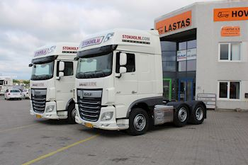 To DAF XF 510 FTG SSC AS-Tronic til Stokholm Transport A/S